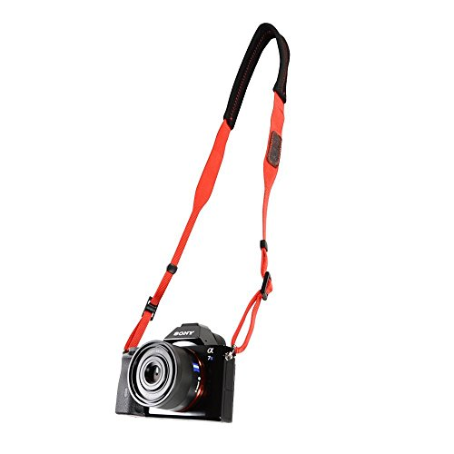 Foto&Tech Padded Neck Shoulder Strap with Red Grosgrain Ties for Fujifilm Samsung Sony Olympus Panasonic Canon Nikon Pentax Compact Cameras Point and Shoots Cameras [並行輸入品]