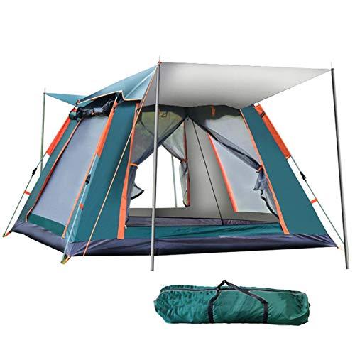 QYY Toile de Tente familiale 6-7 Places étanche Tente de Trekking légère, auvent instantané portatif de Plage léger 5 Kilos Abri, avec Sac de TransportGreen