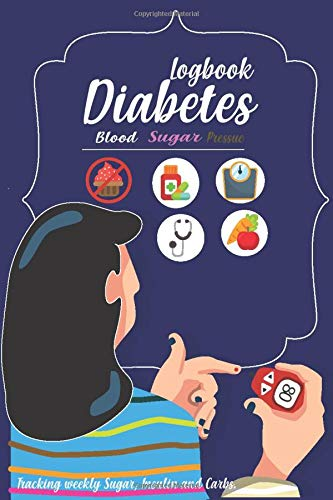 Blood Sugar & Pressur Log Book: Diabetes Log Book | Home Recording notebook | Weekly Blood Sugar Diary, Daily Diabetic Glucose Tracker Journal ,Recording & Tracking Paper Book 6x9 inch