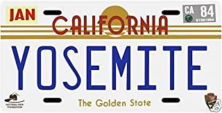 Yosemite National Park 1980s California License Plate