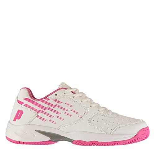 Prince Mujer Reflex Zapatillas Deportivas De Tenis Clásicas Blanco/Rosa EUR 39,5