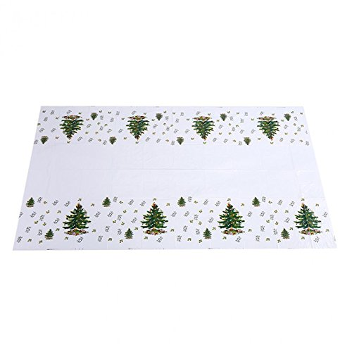 BLUELSS Joyeux Noël la Nappe jetables Chiffon Tableau Thème garçons fête d'anniversaire alimente la décoration Plastique Couvercle Table Tree