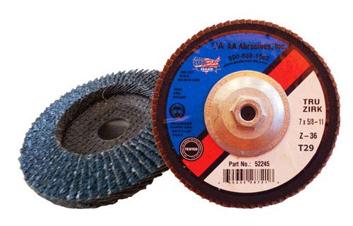 AAAbrasives Some OFFicial site reservation 5x5 8-11#40 Zirc T-27 Flat Abrasive Big Flap Disc