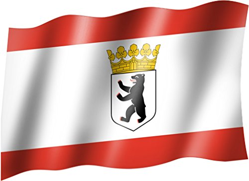 Flagge/Fahne BERLIN WAPPEN Staatsflagge/Landesflagge/Hissflagge mit Ösen 150x90 cm, sehr gute Qualität