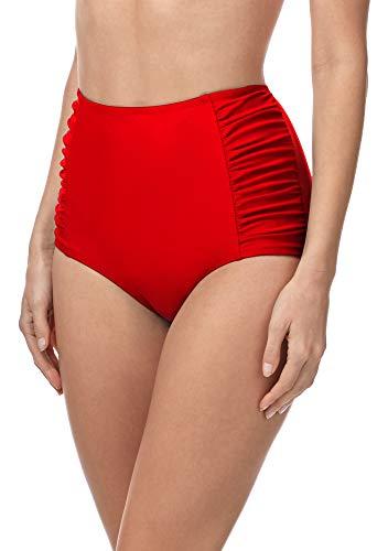Merry Style Damen Bikinislip MS10-119 Bikinihose Bauch Weg Effekt (Rot (4186), 38)