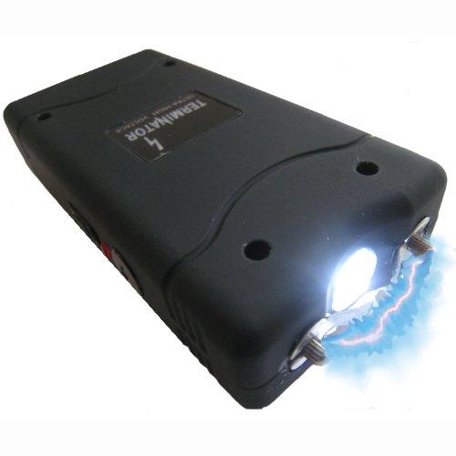 TERMINATOR Stun Gun with Flashlight Max Power Mini Rechargeable Reliable Stun Gun with LED