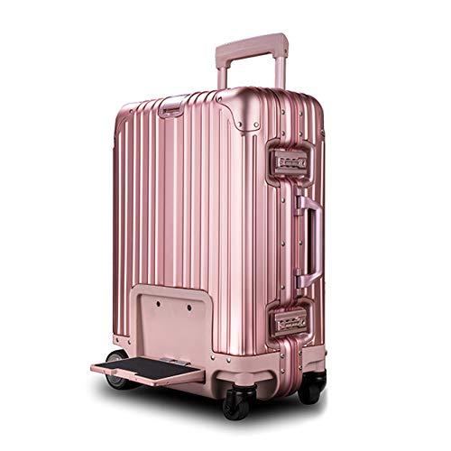 LYY Valigia da Equitazione elettrica da 20 Pollici,Crociera USB a velocità Fissa Posizionamento Anti-Perso, Portata di 200 kg/Resistenza di 10 km,Pink