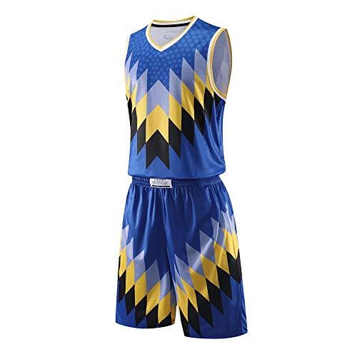 AILTAL Heren Basketbal Jersey Set,Ademende Stof Basketbal Training Shirts Shorts Mesh Snelle Drogen Tracksuits met Pockets Aangepaste Uniforms