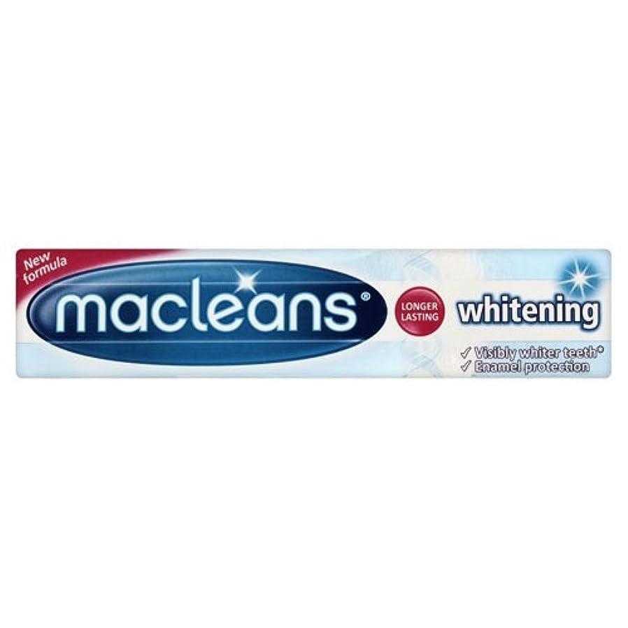 天使受動的消去Macleans Whitening Toothpaste Tube 100ml by Macleans