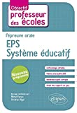 l'Épreuve Orale EPS Système Éducatif au Concours de Professeur des Écoles
