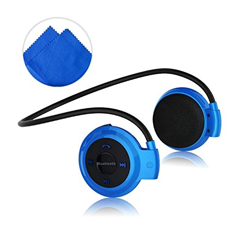 First2savvv LYYD-503-03E11 azul lujo Auriculares estéreo deportes Bluetooth 4.0 para correr cascos deportivos de manos libre, Deportes Auricular con Tecnología aptX Avanzada para sony xperia Z E L SP ZR M z Ultra Z1 E1 Z1 compact Z2 M2 T3 Z3 M dual Xperia M2 Aqua Z3 compact E3 T2 Ultra Z3 LTE M2 LTE Z1 LTE Z4 music Z4 Compact Xperia E4 Nokia Lumia 800 900 820 920 620 510 520 530 720 925 1020 625 1320 1520 630 930 635 830 Lumia 735 535 435 con Deep Blue paño de limpieza