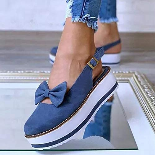 Sandales Bout Fermé Femme Casual Mocassins Sandales Bride Cheville Chaussures De Marche Plateforme Sandales De Plage Extérieur Respirant Anti-Slip Slipper,K2,43