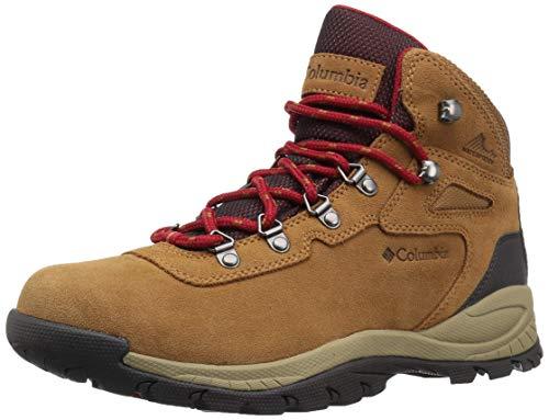Columbia womens Newton Ridge Plus Waterproof Amped Hiking Boot, Elk/Mountain Red, 9.5 US