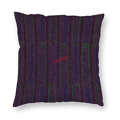 VinMea Funda de almohada decorativa patrón especial 73 fundas de cojín para sofá, dormitorio, hogar, oficina, decoración de 50 x 50 cm