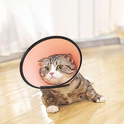 supet gato cono ajustable mascota cono perro recuperación collar cómodo mascota cono collar protector para después de la cirugía anti
