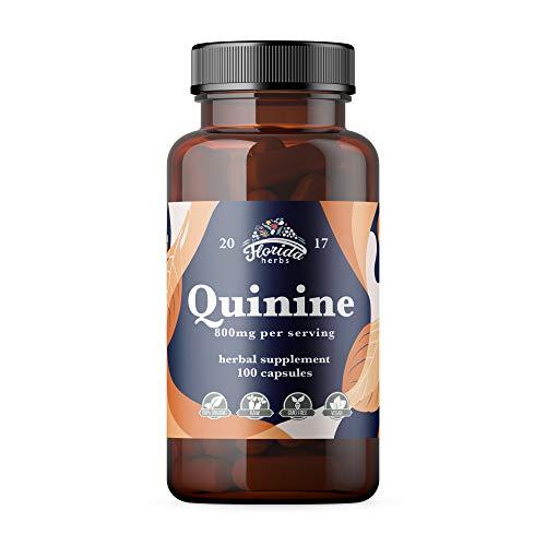 Quinine Capsules 800mg, Cinchona Bark Pills (Cinchona succirubra, Peruvian Bark) Herbal Supplement