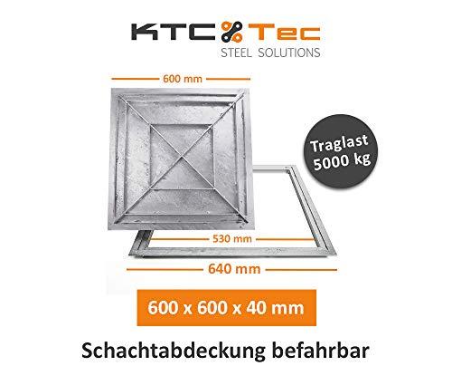 Schachtabdeckung Stahl verzinkt befahrbar Tränenblech Schachtdeckel 600 x 600 mm