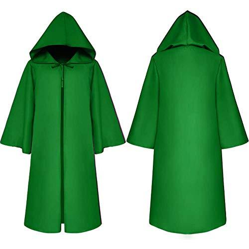 NBWS cape cape kostuum, Halloween omhang satijn carnaval kostuum cape met capuchon mantel Halloween dames vampir heks cape kostuum Kerstmis kostuum accessoires Medium C