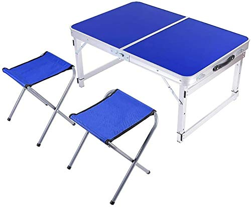 LRHYG Picnic Folding Table Folding Picnic Table Aluminum Camping Table Lightweight Table And Chairs Setfor Dining, Cutting, Cooking, Beach, Hiking, Fishing
