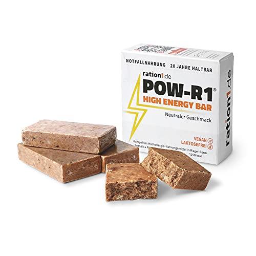 ration1 POW-R1® High Energy Bar – Die ultimative Powerbar – 1 Packung mit 4 Energieriegeln – Vegan & Laktosefrei! 20 Jahre haltbar!