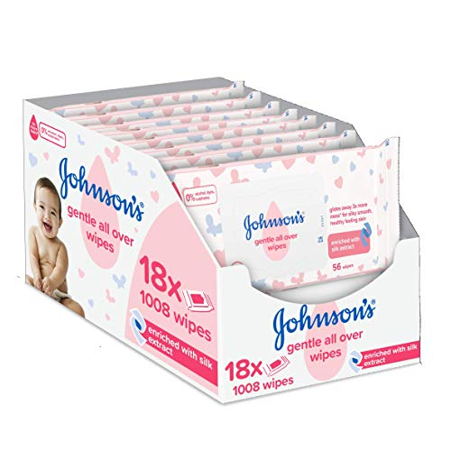 Johnson\'s Baby Gentle All Over Wipes Reinigungstücher, 18 x 561008 Stück