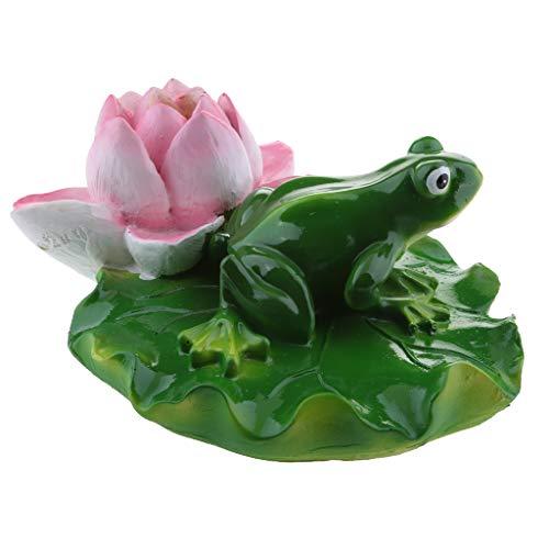 B Blesiya Süße Frosch Teichdekoration Schwimmform, ideal für Teich Aquarium Fishpod Deko - F# 1 Lotus Frosch