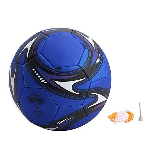 KEENSO Allenamento Calcio, Attrezzatura Sportiva in PVC Calcio Pallone da Calcio Allenamento Allenatore Macchina Cucita Accessorio, Attrezzatura Sportiva(Blu)