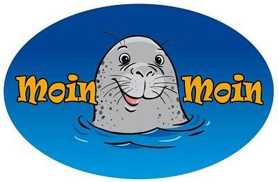 Autoaufkleber Sticker Wappen Moin Moin Seehund Flagge Aufkleber