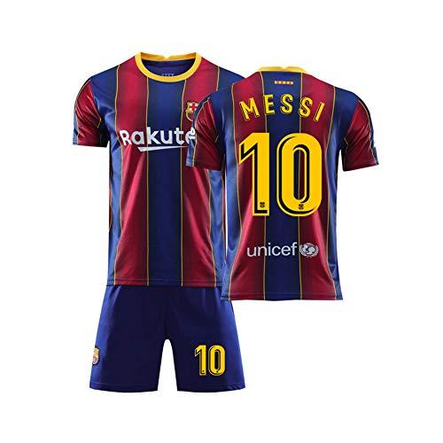 LCHENX-Kinder Barcelona Lionel Messi # 10 Fan Fußball T-Shirt Jersey Kits für Kinder,6Years