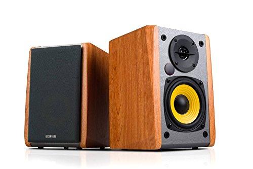 "Edifier R1010BT - 4"" Powered Bluetooth Wireless Multimedia Studio Monitor Speakers (Pair) 24 Watts RMS - Wood"