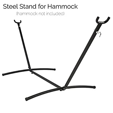 Steel Stand for Camping Double Hammock - for Garden, Outdoor & Indoor, Portable for Travel Vacation, Space Saving Steel Frame - Hammock Not Included