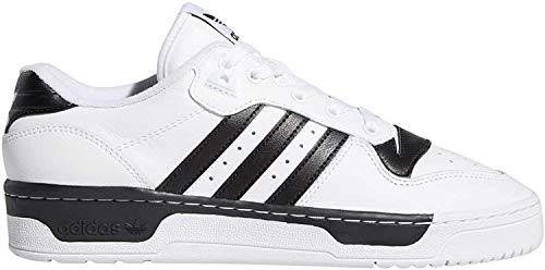 adidas Rivalry Low, Zapatillas de Running para Hombre, FTWR White Core Black-Reloj de Pulsera, 43 1/3 EU