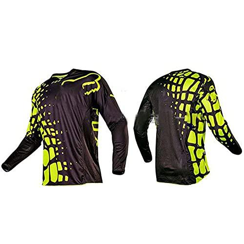 BEDSETS Jersey Langarm Mountainbike Jersey Herren Herren Downhill Jerseys Kurzarm MTB Mountainbike Shirts Offroad Motorrad Jersey Motocross Sportswear (pz04,5XL)