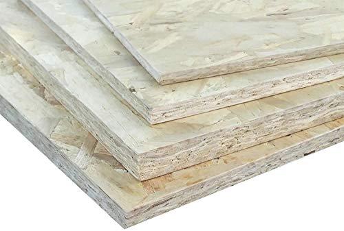 Pannello OSB-2 in legno di pioppo resistente in ambienti umidi, pannello in varie misure e spessori Misure in cm (49,5x120x1,5)