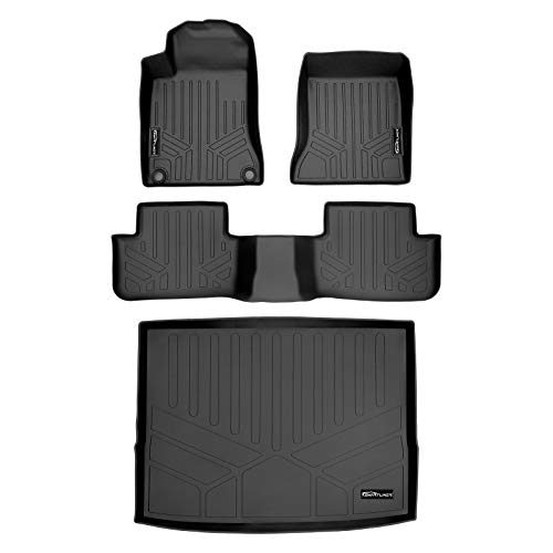 MAXLINER Floor Mats 2 Rows and Cargo Liner Black for 2015-2020 Mercedes Benz GLA