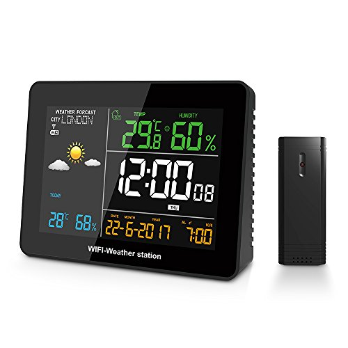 Bureze DIGOO DG-TH8788 WIFI Weerstation APP Afstandsbediening Automatische Connect Smart Home Multifunctionele Thermometer