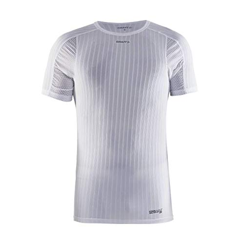 Craft Active Extreme 2.0 sous-vêtement col Rond Manches Courtes Homme, Blanc, FR (Taille Fabricant : E: XL)