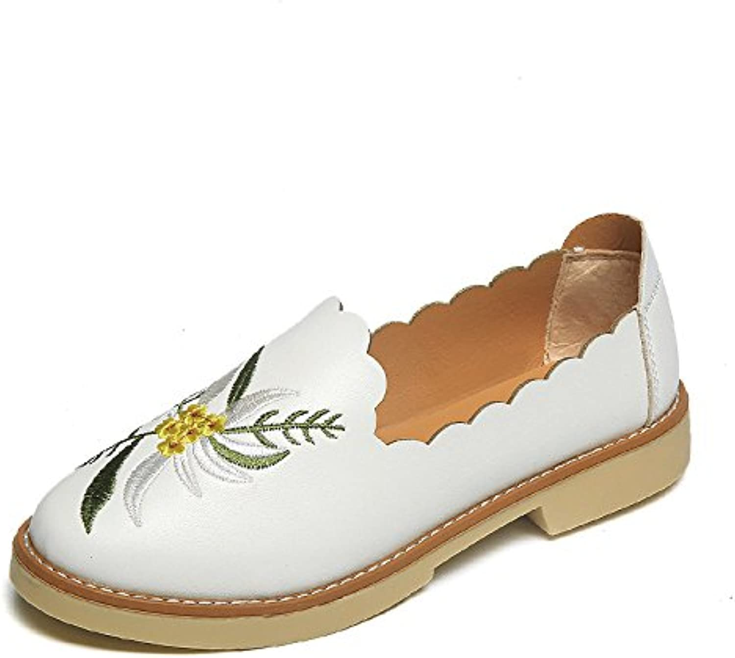 WYMBS Autumn and Winter Gifts Women's shoes Women's Casual Embroidery with Single Xieping
