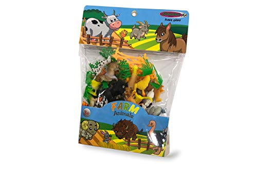 JAMARA 460477 - Tierspielset Farm Animals 2,5 50-teilig - ideales Zubehör für jeden Spielzeugbauernhof, liebevollen Details, fördert das Rollenspiel und die Fantasie, Höhe: 30 - 95 mm