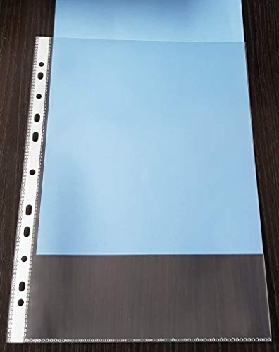50x SUPER STARKE, A4 Prospekthülle 180my (0,18mm) GLASKLAR GLATT, Klarsichthülle mit Abheftrand, DOKUMENTENECHT, recycelbar !