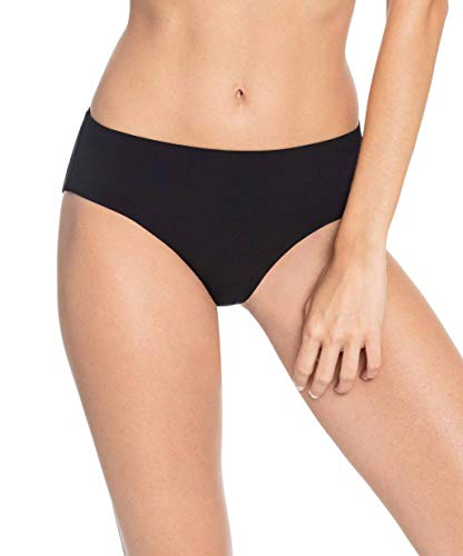 Robin Piccone Women's Ava High Rise Bikini Bottom Black L