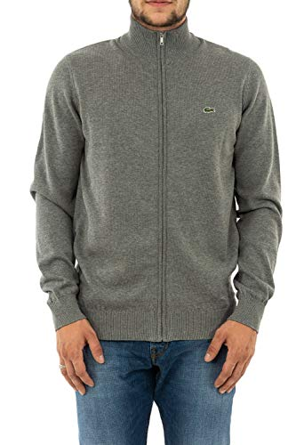 Lacoste Herren Sweatjacke AH4085,Männer Sweatshirt Reißverschluss,Regular Fit,GALAXITE Chine/Flour-Stone Chine(A83),X-Small (2)