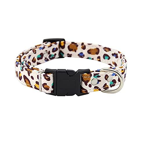 PINGPUNG Correa Nuevo Collar de Perros de Perros de Leopardo y Correa Collar de Perro de algodón Ajustable para la Mascota Lindo Collar de Cachorros pequeños Perros pequeños Accesorios para Mascotas