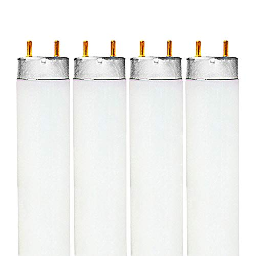 Luxrite F32T8/741 32W 48 Inch T8 Fluorescent Tube Light Bulb, 4100K Cool White, 2850 Lumens, G13 Medium Bi-Pin Base, LR20732, 2-Pack