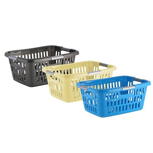 axentia Wäschekorb Plastik, stapelbar, 25 l