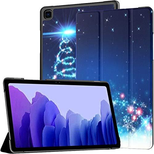 Funda para Tableta Samsung A7 Fondo Abstracto de árbol de Navidad en Azul Funda para Samsung Galaxy Tab A7 10.4 Pulgadas Funda Protectora de liberación 2020 Funda Samsung Galaxy A7 Funda para Tableta