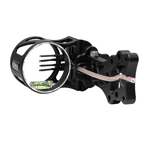 VIPER Archery Venom Compound Bow Sight, Made in USA, Durable Machined Aluminum, 4 Ultra-Bright Fiber-Optic Pins, Simple Elevation & Pin Adjustments, 0.019 Pin