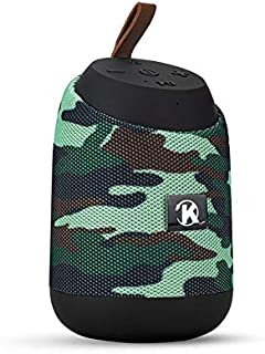 K37 Bluetooth Mini Portable Speaker with Calling - FM Radio - USB- Card Slot Compatible with All Devices Army Color
