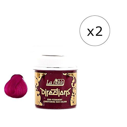 La Riche Directions Semi-Permanent Hair Colour Dye x2 Pack-Cerise (dir)