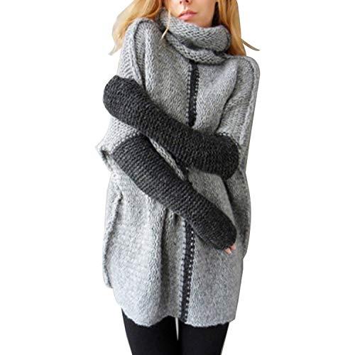 Melancholie Rose Vrouwen Patchwork Coltrui Pullover en Truien Dames Knitwear Warm Casual Gebreide Jumpers
